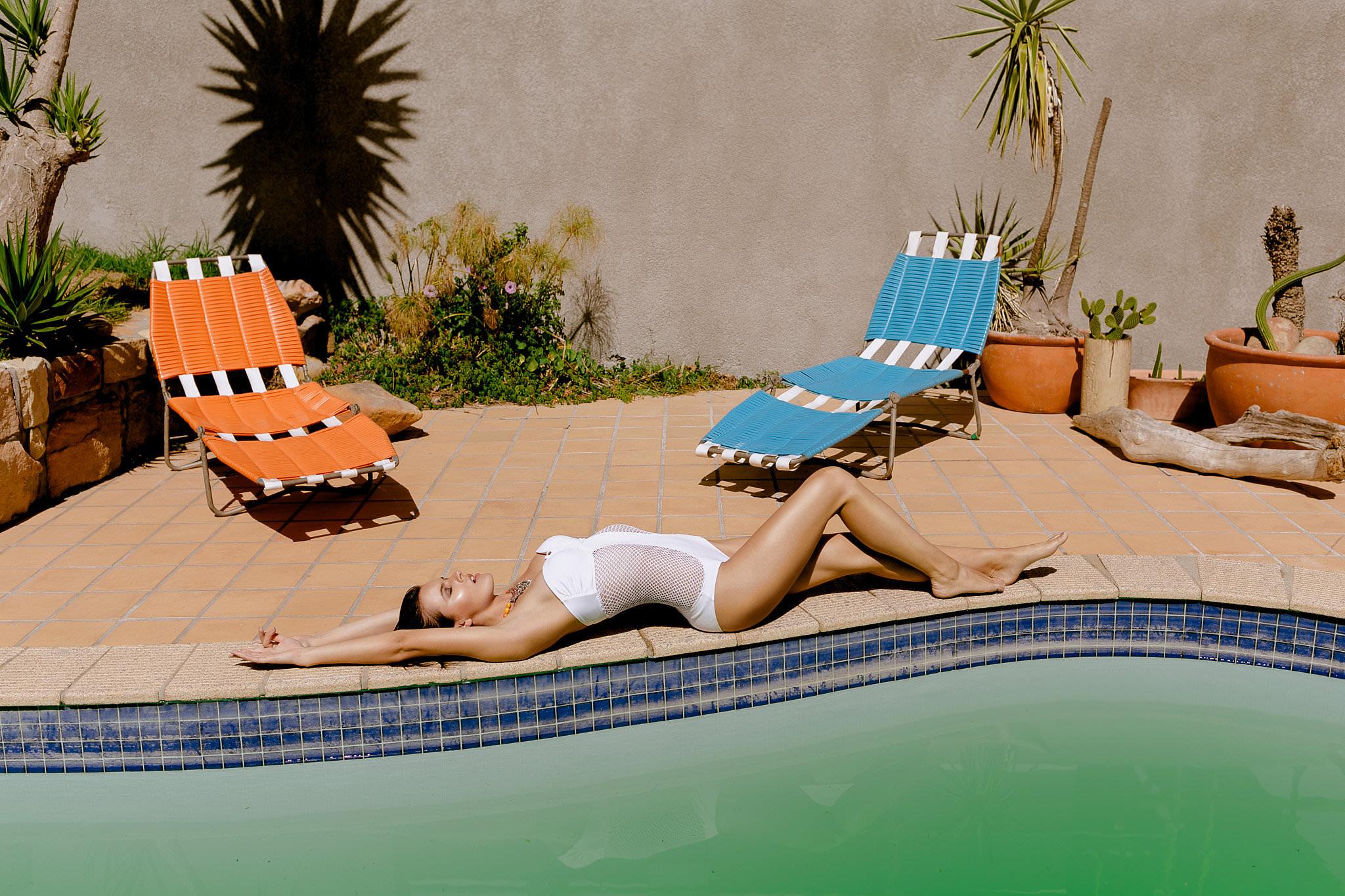 Fashion Shoot Swimwear in Camps Bay, Cape Town. photo by Farina Deutschmann